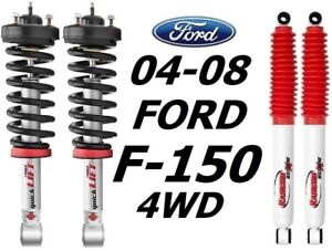 Rancho Quicklift Struts 2 5 Lift rs5000 Rear Shocks For 04 08 Ford F 150 4wd
