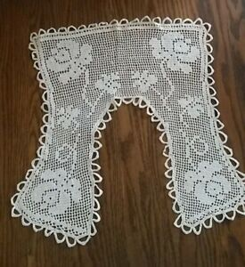 Vintage Crocheted Lace Collar Square