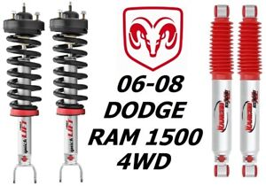 Rancho Front Quicklift Struts rs9000xl Rear Shocks For 06 08 Dodge Ram 1500 4wd