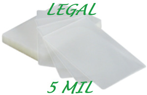200 Legal Size Laminating Laminator Pouches 9 X 14 1 2 5 Mil Quality