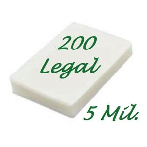 200 Legal Laminating Pouches Laminator Sleeves 9 X 14 1 2 5 Mil Scotch Quality