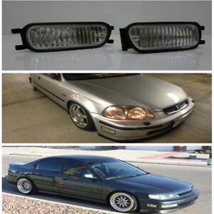 Jdm Style Front Bumper Intersection Fog Light Lamp Honda Civic Integra Accord