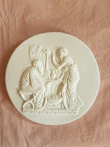 Couple Supper Scene Grand Tour Cameo Intaglio Medallion Seal Plaster Tassie New