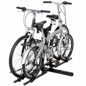 Dual Twin Two Bike Bicycle Auto Trailer 2 Tow Hitch Mount Carrier Rack Holder
