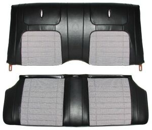 1968 Camaro Coupe Deluxe Houndstooth Interior Rear Seat Covers Black