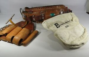 Bashlin 88 Lineman s Climbing Belt Sz d21 And Bashlin Tool Pouch 25r Pouch Jh