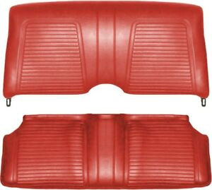 1969 Camaro Convertible Standard Interior Rear Seat Covers Red