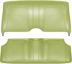 1969 Camaro Standand Interior Fold Down Rear Seat Covers Moss Green