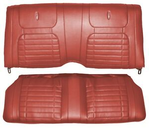 1968 Camaro Coupe Deluxe Interior Rear Seat Covers Red
