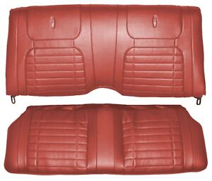 1968 Camaro Deluxe Interior Fold Down Rear Seat Covers Red