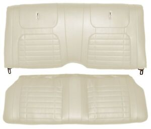 1968 Camaro Convertible Deluxe Interior Rear Seat Covers Pearl Parchment