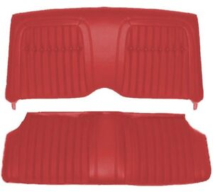 1969 Camaro Coupe Deluxe Comfortweave Interior Rear Seat Covers Red