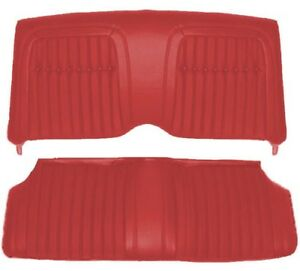 1969 Camaro Convertible Deluxe Interior Comfortweave Rear Seat Covers Red