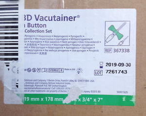 Case Of 200 Bd Vacutainer Push Button Blood Collection Set Model 367338