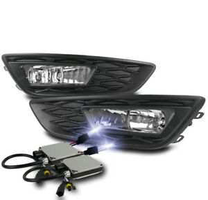 2015 2017 Ford Focus Chrome Bumper Driving Fog Lights Lamp Harness W 10k Hid Kit