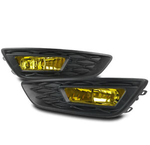 2015 2017 Ford Focus Yellow Front Bumper Driving Fog Light Lamp W Harness Switch