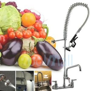 Commercial Pre rinse Faucet W 12 Add on Faucet Kitchen Restaurant Dishwasher