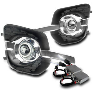2010 2015 Chevy Equinox Chrome Bumper Driving Fog Lights 50w 6000k Xenon Hid Set