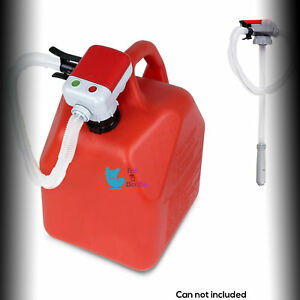 Fuel Pump Gas Can Transfer Flexible Hose Fitting Numerous Cans Autostop Function