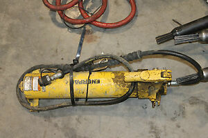 Enerpac P80 Manual Hydraulic Hand Pump Cylinder H Frame Press Hose
