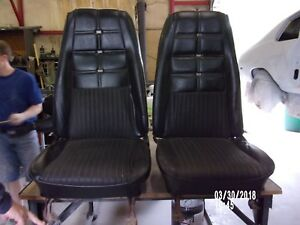 1970 71 Ford Mustang Hi Top Deluxe Buckets Seats Pair rare Set
