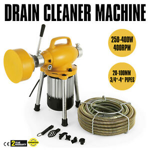 00ft 3 4 Drain Auger Pipe Cleaner Machine Easy Plumbing Cleaning Terrific Value
