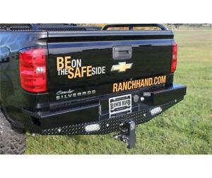 Ranch Hand Sport Series Width Black Rear Hd Bumper For 14 18 Silverado 1500