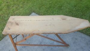 Vintage Wood Ironing Board Wood Legs