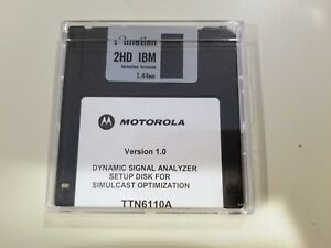 Motorola Dynamic Signal Analyzer Ttn6110a Setup Disk For Simulcast Optimization