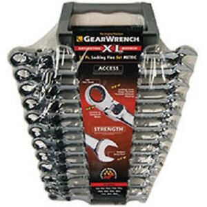 Gearwrench 85698 Metric Xl Locking Flex Head Combo Ratcheting Wrench Set 12 Pc