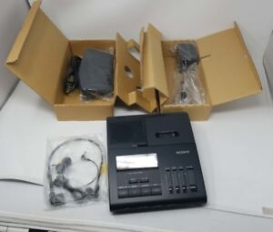 Sony Bm 840t Microcassette Transcriber W Cable And Foot Control Black New