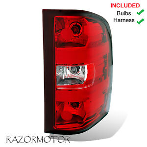 2007 2013 Passenger Replacement Tail Light For Chevy Silverado W Bulb Harness
