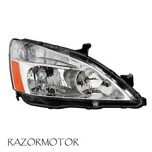 2003 2007 Passenger Replacement Headlight For Honda Accord W bulb And Socket