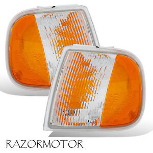 97 03 02 Replacement Corner Park Signal Light Set For Ford F150 Expedition Pair