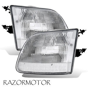 97 03 02 Replacement Headlight Set For Ford F150 expedition Pair Bulb Included