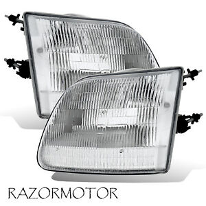 97 03 02 Replacement Corner Headlight Set For Ford F150 Expedition Pair W Bulb