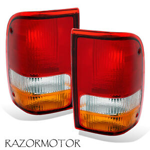 1993 1997 Replacement Tail Light Lamp Housing Set For Ford Ranger Pair Oem Type