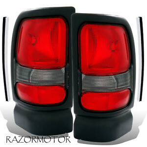 94 01 02 Replacement Tail Light For Dodge Ram 1500 2500 3500 W o Sport Pkg Pair