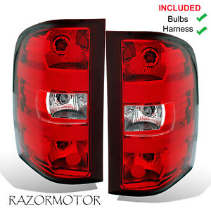 2007 2013 Oe Replacement Tail Light Set For Chevy Silverado Pair Bulbs Harness