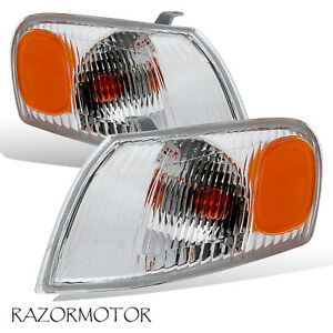 1998 2000 Replacement Corner Signal Light For Toyota Corolla Pair W Bulb Socket