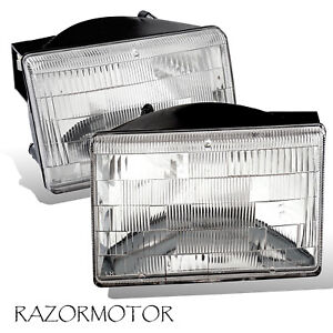 1993 1998 Replacement Headlight Set For Jeep Grand Cherokee Pair W Bulb
