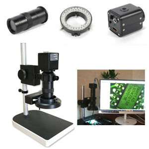 16mp 1080p 10x 180x Hdmi Digital Industry Microscope Set Camera Video Zoom Lens