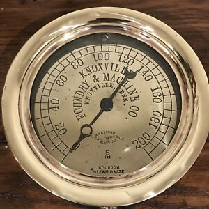 Antique Knoxville Foundry Machine Gauge Steampunk Industrial 6 Rustic Chic