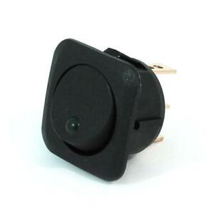 2pk Led Illuminated Round Rocker Switch square Face Plate 25a on off spst green