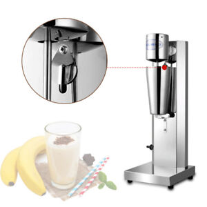 Commercial Food grade Automatic Milk Shake Machine High Speed Mixing Silver