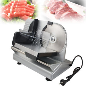 Commercial Electric Meat Slicer Deli Food Cutter Restaurant Home Kitchen Machine