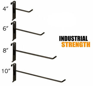 Black Gridwall Hooks Combo Pack Of 20 Assorted 5 Ea 4 6 8 10