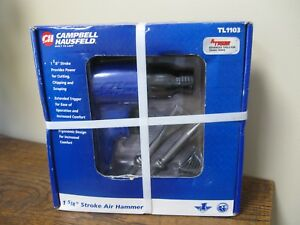 New Campbell Hausfeld Tl1103 1 5 8 Stroke Air Hammer With Two Chisel Bits