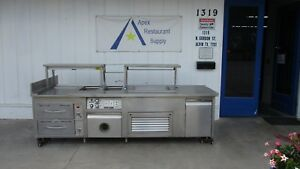 Serving Line W steam Wells Cold Compartment Warming Cabinet 3279