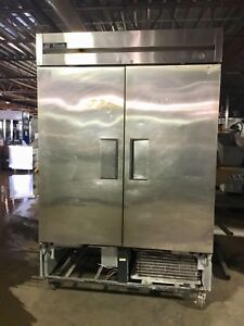 True Double Door Freezer 54 Reachin T49f